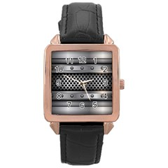 Iron Content Hole Mix Polka Dot Circle Silver Rose Gold Leather Watch  by Mariart