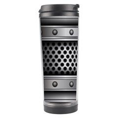 Iron Content Hole Mix Polka Dot Circle Silver Travel Tumbler by Mariart