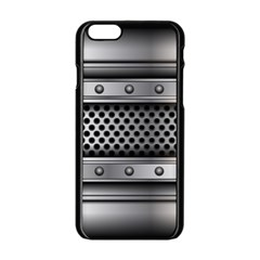 Iron Content Hole Mix Polka Dot Circle Silver Apple Iphone 6/6s Black Enamel Case by Mariart