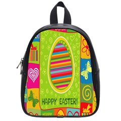 Happy Easter Butterfly Love Flower Floral Color Rainbow School Bags (small)  by Mariart