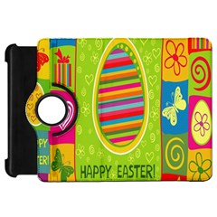 Happy Easter Butterfly Love Flower Floral Color Rainbow Kindle Fire Hd 7  by Mariart