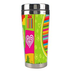 Happy Easter Butterfly Love Flower Floral Color Rainbow Stainless Steel Travel Tumblers by Mariart