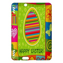 Happy Easter Butterfly Love Flower Floral Color Rainbow Kindle Fire Hdx Hardshell Case by Mariart
