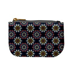 Floral Flower Star Blue Mini Coin Purses by Mariart
