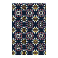 Floral Flower Star Blue Shower Curtain 48  X 72  (small)  by Mariart