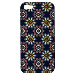 Floral Flower Star Blue Apple Iphone 5 Hardshell Case by Mariart
