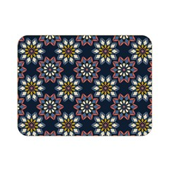 Floral Flower Star Blue Double Sided Flano Blanket (mini)  by Mariart