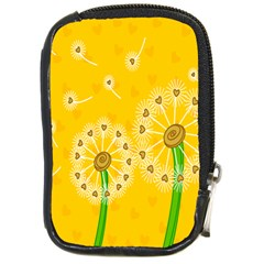 Leaf Flower Floral Sakura Love Heart Yellow Orange White Green Compact Camera Cases by Mariart