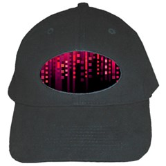 Line Vertical Plaid Light Black Red Purple Pink Sexy Black Cap by Mariart