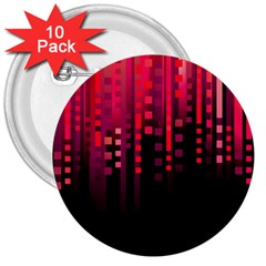 Line Vertical Plaid Light Black Red Purple Pink Sexy 3  Buttons (10 Pack)  by Mariart