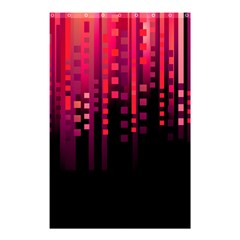 Line Vertical Plaid Light Black Red Purple Pink Sexy Shower Curtain 48  X 72  (small)  by Mariart