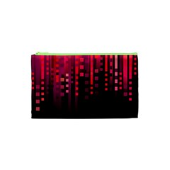 Line Vertical Plaid Light Black Red Purple Pink Sexy Cosmetic Bag (xs) by Mariart