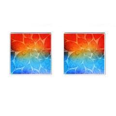 Leaf Color Sam Rainbow Cufflinks (square) by Mariart