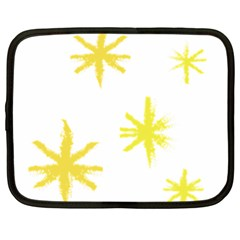 Line Painting Yellow Star Netbook Case (xl)  by Mariart