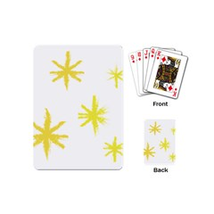 Line Painting Yellow Star Playing Cards (mini)  by Mariart