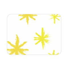 Line Painting Yellow Star Double Sided Flano Blanket (mini)  by Mariart