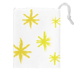Line Painting Yellow Star Drawstring Pouches (xxl) by Mariart