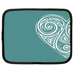 Line Wave Chevron Star Blue Love Heart Sea Beach Netbook Case (large) by Mariart
