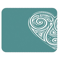 Line Wave Chevron Star Blue Love Heart Sea Beach Double Sided Flano Blanket (medium)  by Mariart