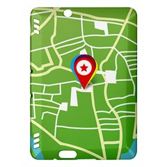 Map Street Star Location Kindle Fire Hdx Hardshell Case by Mariart