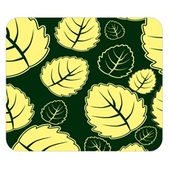 Leaf Green Yellow Double Sided Flano Blanket (small)  by Mariart