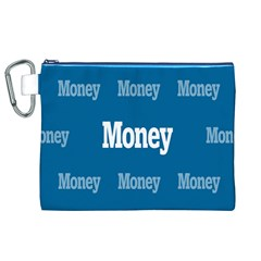 Money White Blue Color Canvas Cosmetic Bag (xl) by Mariart