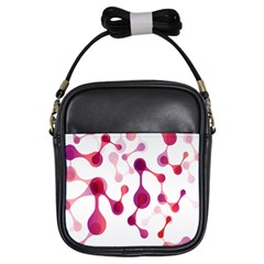 Molecular New Pink Purple Girls Sling Bags by Mariart