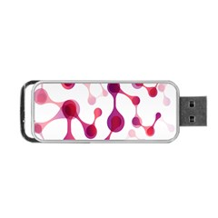 Molecular New Pink Purple Portable Usb Flash (one Side) by Mariart