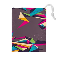 Origami Bird Japans Papper Drawstring Pouches (extra Large) by Mariart