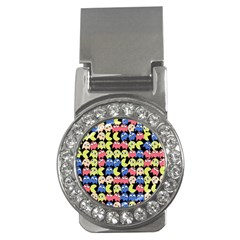Pacman Seamless Generated Monster Eat Hungry Eye Mask Face Color Rainbow Money Clips (cz)  by Mariart