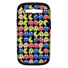 Pacman Seamless Generated Monster Eat Hungry Eye Mask Face Color Rainbow Samsung Galaxy S Iii Hardshell Case (pc+silicone) by Mariart