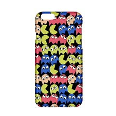 Pacman Seamless Generated Monster Eat Hungry Eye Mask Face Color Rainbow Apple Iphone 6/6s Hardshell Case by Mariart