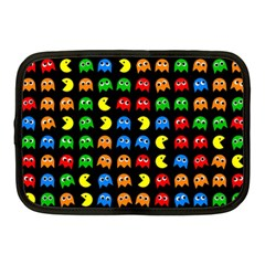 Pacman Seamless Generated Monster Eat Hungry Eye Mask Face Rainbow Color Netbook Case (medium)  by Mariart