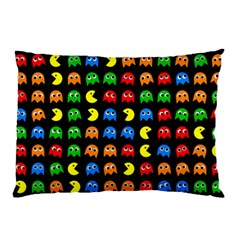 Pacman Seamless Generated Monster Eat Hungry Eye Mask Face Rainbow Color Pillow Case (two Sides) by Mariart