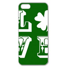 Parks And Tally Love Printable Green Apple Seamless Iphone 5 Case (clear) by Mariart