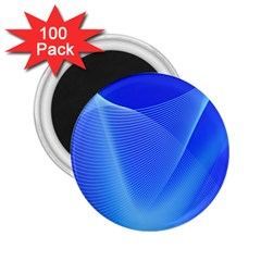 Line Net Light Blue White Chevron Wave Waves 2 25  Magnets (100 Pack)  by Mariart