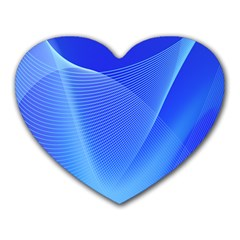 Line Net Light Blue White Chevron Wave Waves Heart Mousepads by Mariart