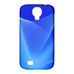 Line Net Light Blue White Chevron Wave Waves Samsung Galaxy S4 Classic Hardshell Case (pc+silicone) by Mariart