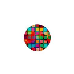 Plaid Line Color Rainbow Red Orange Blue Chevron 1  Mini Buttons by Mariart