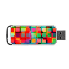 Plaid Line Color Rainbow Red Orange Blue Chevron Portable Usb Flash (two Sides) by Mariart