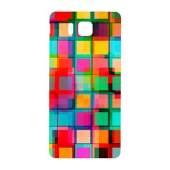 Plaid Line Color Rainbow Red Orange Blue Chevron Samsung Galaxy Alpha Hardshell Back Case by Mariart