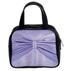 Ribbon Purple Sexy Classic Handbags (2 Sides) by Mariart