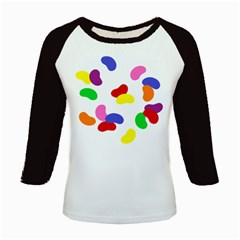 Seed Beans Color Rainbow Kids Baseball Jerseys by Mariart
