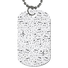 Musical Notes Song Dog Tag (two Sides) by Mariart