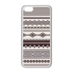 Plaid Circle Polka Dot Star Flower Floral Wave Chevron Triangle Apple Iphone 5c Seamless Case (white) by Mariart