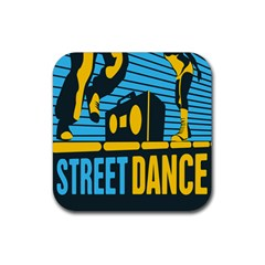 Street Dance R&b Music Rubber Square Coaster (4 Pack)  by Mariart