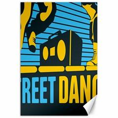 Street Dance R&b Music Canvas 20  X 30   by Mariart