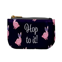 Rabbit Bunny Pink Purple Easter Animals Mini Coin Purses by Mariart
