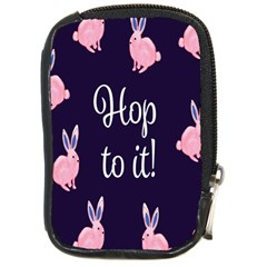 Rabbit Bunny Pink Purple Easter Animals Compact Camera Cases by Mariart