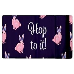 Rabbit Bunny Pink Purple Easter Animals Apple Ipad 2 Flip Case by Mariart